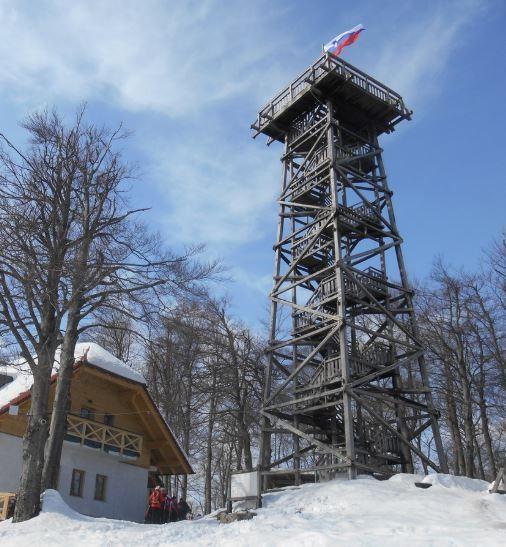 razgledni stolp Planina nad Vrhniko