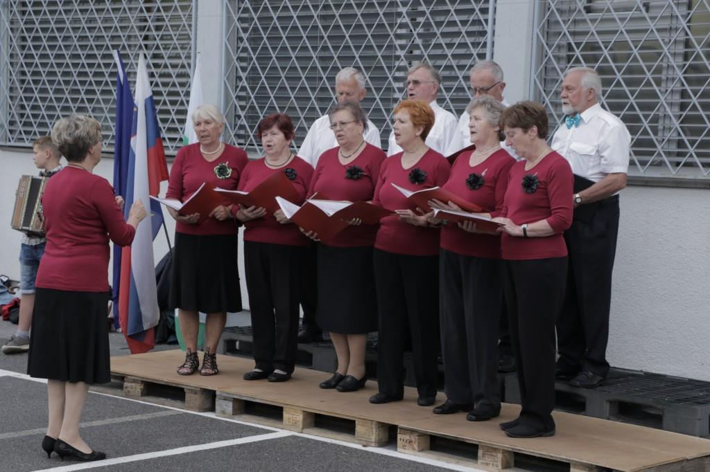 pevsko društvo upokojencev Trnovo, zborovodkinja Darinka Slak, pesem