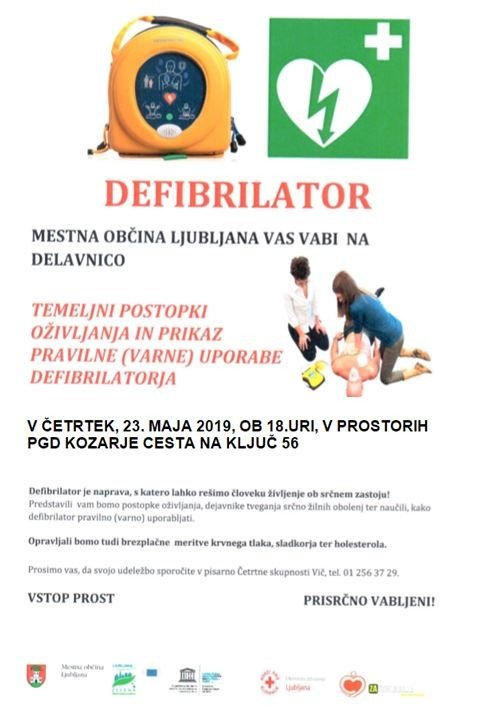DEFIBRILATOR - namen in raba