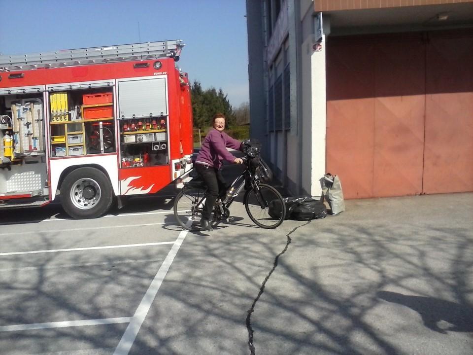 Mobilna čistilna akcija na biciklu
